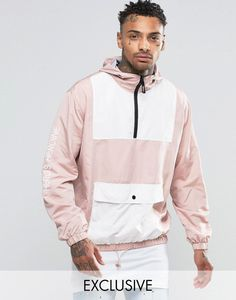 Jacket by Hero's Heroine Smooth woven fabric Fixed hood Half zip placket Functional pocket Stretch trims Drawstring hem Regular fit - true to size Hand wash 100% Polyester Our model wears a size Medium and is 185.5cm/6'1 tall Exclusive to ASOS ABOUT HERO�S HEROINE Streetwear label Hero's Heroine is all about causing a disruption. Influenced by paintings on walls 90s skate graphics pop-art hip-hop punk and modern society expect statement slogans printed sweatshirts and joggers. Click here…