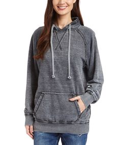 Look at this Vineyard Crew Charcoal Burnout Pullover Hoodie on #zulily today!