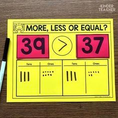 Place Value Math Centers - A Kinderteacher Life Place Value Math Center activities to teach students how to write, model and draw numbers using tens and ones. Math Classroom, Kindergarten Math, Teaching Math, Primary Teaching, Math Place Value, Place Values, Place Value Centers, Math Stations, Math Centers