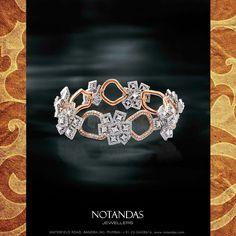 Best Diamond Bracelets : Brilliant piece of work ! Sapphire Bracelet, Diamond Bracelets, Bangle Bracelets, Bangles, Simple Bracelets, Handmade Bracelets, Jewellery Sketches, Gucci, Wedding Jewelry