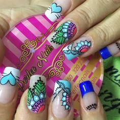 Essie Gel Polish, Shellac Nails, Fingernail Designs, Nail Art Designs, Fingernails Painted, Stiletto Nail Art, Chic Nails, Flower Nail Art, Get Nails