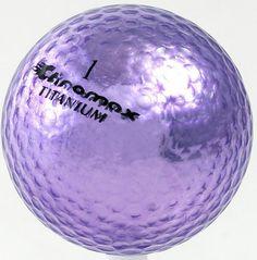 Chromax Golf Balls by Neutron (3 Pack) - Purple Metallic #1