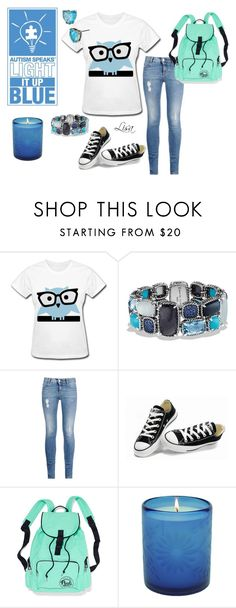 """""""Light it up blue"""" by coolmommy44 ❤ liked on Polyvore featuring David Yurman, STELLA McCARTNEY, Converse, Betsey Johnson, women's clothing, women, female, woman, misses and juniors"""