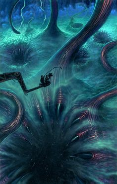 """Shub-Niggurath by ~nightserpent on deviantART. Artwork for the 2010 H.P. Lovecraft Film Festival held in Portland and Los Angeles. Acrylic on illustration board, 11x17"""" © paul carrick"""