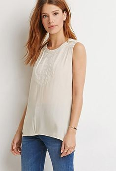 Contemporary Southwestern-Inspired Embroidered Trim Top | Forever 21 - 2000155726