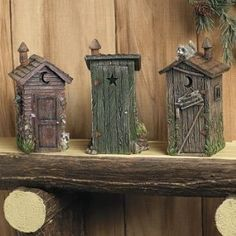 Miniature Outhouses