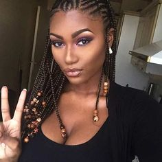 Micro Cornrows Hairstyle for Summer