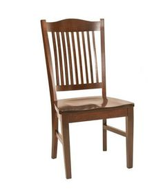 Amish Timken Dining Chair Amish Timken Dining Chair. Mission style elements shine in this solid wood beauty. The scooped seat promises comfort every time. #DutchCrafters
