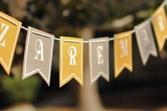 Yellow and Gray Wedding Banner.