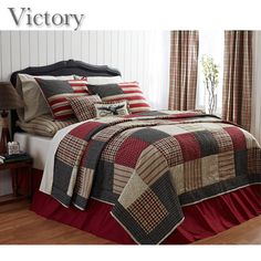 Delectably Yours Home Interiors and Decor: NEW Victory Patchwork Quilt Bedding…