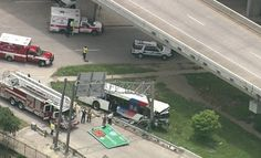At least 32 people were injured Wednesday after a METRO Houston bus crashed north of downtown Houston, officials said.