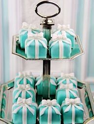 Heaven on earth occurs when you receive that famous signature blue box from Tiffany's. (Even Audrey Hepburn longed for one in the film, Breakfast at Tiffany's). Here's the perfect birthday cake that can satisfy at least one craving.
