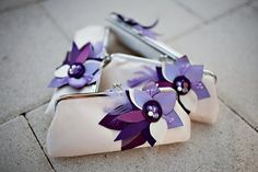 *** Boutineer idea -- take the fabric flowers from the clutch and make into butineers! Also, a nice gift for the bridesmaids. AND they match!