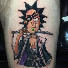 The show has gained a lot of fans and these fans have found a way of expressing how much they love this show by getting Rick and Morty tattoos. One Piece Tattoos, Weird Tattoos, Anime Tattoos, Tattoos For Guys, Seal Tattoo, F Tattoo, Tatoo Art, Rick And Morty Drawing, Rick And Morty Tattoo