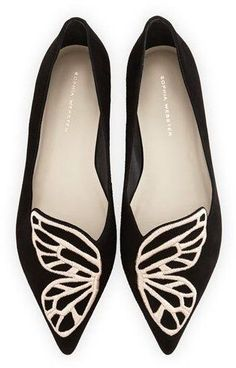 af0ece91d Sophia Webster Bibi Butterfly Embroidered Suede Flats. Shoeaholics Anonymous