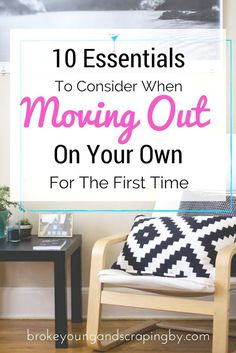 Moving Out For The First Time Can Be Hard And Nerve Racking. So Iu0027