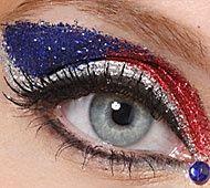 Red white and blue eyes - rocker girrls