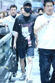 150717: EXO Park Chanyeol; Incheon Airport to Beijing Airport #exok #fashion #style #kpop