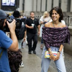 The Stylish Streets of New York Fashion Week - Leandra Medine of The Man Repeller blog.  Photo: Craig Arend for The New York Times