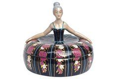 Robj Art Deco Porcelain Ballerina Box