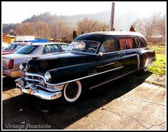 Vintage Cadillac hearse.