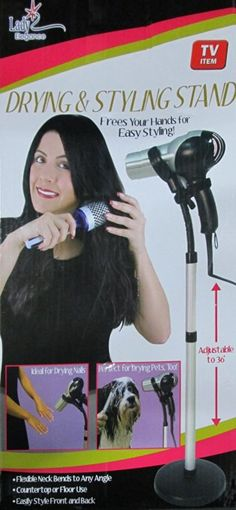 Lady Elegance Hands Free Hair Drying and Styling Stand