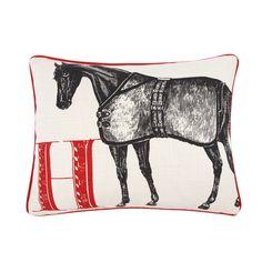 H Horse Pillow