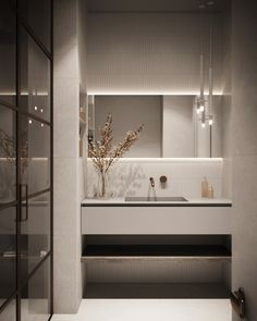 Pureroom on Behance Washroom Design, Bathroom Design Luxury, Modern Bathroom Design, Home Interior Design, Modern Master Bathroom, Small Bathroom, Washbasin Design, Bathroom Design Inspiration, Behance