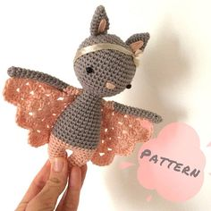 ******THIS LISTING IS FOR A CROCHET PATTERN NOT THE DOLL****** CHLOE - CROCHET PATTERN This is Chloe, my newest design, the cutest little bat girl. To be honest, the only bat I would be around. She is a peaceful sweet little bat, the perfect gift for a little girl or nursery decor. Chloe is