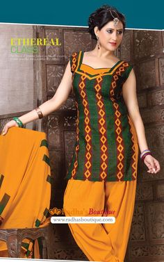 Beautiful Bright shade printed Cotton Salwar Suit