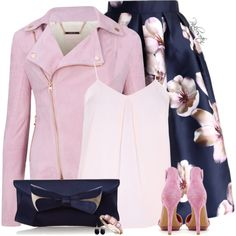 Navy Blue as a Spring Neutral by pinkroseten on Polyvore featuring moda, Dorothy Perkins, Ted Baker, Chicwish, Principles by Ben de Lisi and Lola Rose