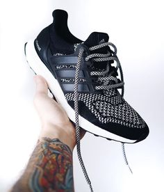 Adidas Ultra Boost 3M with custom laces.