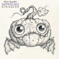 Pumpkin Bat!  #morningscribbles #october #halloween