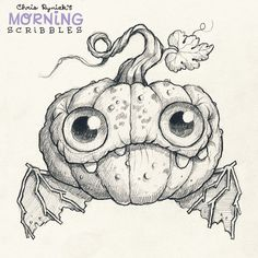 Pumpkin Bat!  #morningscribbles #october #halloween
