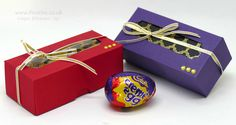 Stampin' Up! Demonstrator Pootles –Regal Triple Creme Egg Box using Stampin' Up! Foil Window Sheets Click it for a 360° View, Pin it for later! Click it for a 360° View, Pin it f…