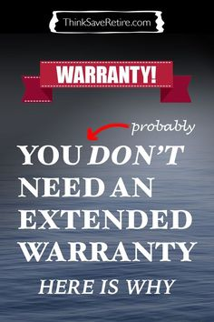 The truth about extended warranties is that they are almost ALWAYS a waste of money. So when should you get one and what to do instead? This article has amazing advice! I would have never thought of this and it could save me SOO much money.