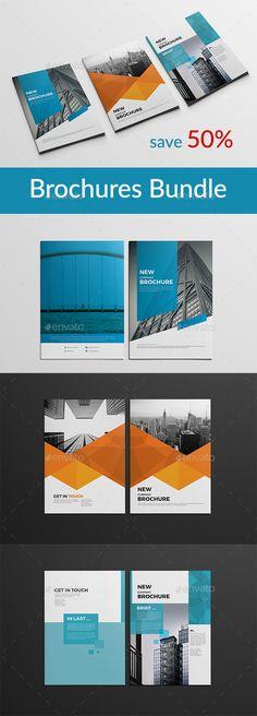 A4 Brochure Bundle #trend #creative  • Download here → https://graphicriver.net/item/a4-brochure-bundle/21249027?ref=pxcr