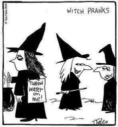 Mean witch pranks Halloween Cartoons, Halloween Humor, Halloween Labels, Haunted Halloween, Halloween Witches, Halloween Goodies, Creepy, Scary, Funny Bunnies