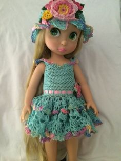 Mint Ruffles for DAC Crochet Pattern for Disney Animator's Collection Doll