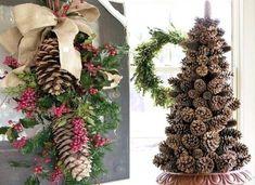 Déco de Noël avec des pommes de pin http://www.nafeusemagazine.com/Idees-Decorations-de-Noel-en-pommes-de-pin_a918.html