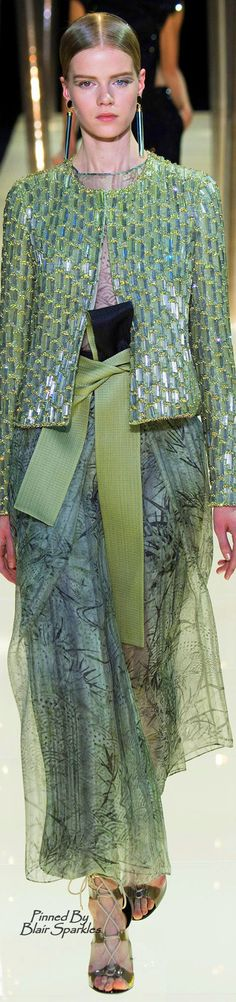 Spring 2015 Couture Armani Privé | The House of Beccaria~