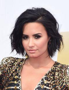 Demi Lovato's Piecey Bob