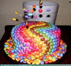 colored candy swirls