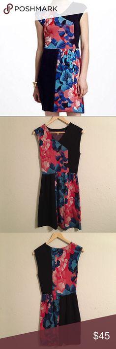 {anthropolgie} Leifsdottir Floral Knit Dress Lovely silk blend knit sheath dress Anthropologie Dresses