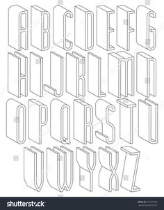 Black and white 3d font made with thin lines, single color simple tall letters alphabet, best for use in web design and advertising, for use in headlines, elegant symbols with good style.