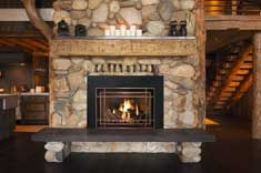 Click to view a larger image of this Mendota FV44i Stella fireplace scene