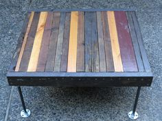 Dark Coffee Table from salvaged wood