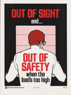 Vintage Workplace Safety Poster 1960s National by vintagegoodness, $12.95