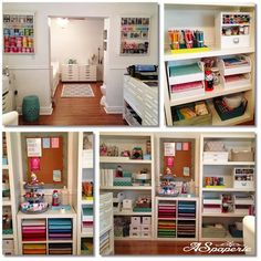 New Studio / Martha Stewart / Craft Room / Pottery Barn / Ikea
