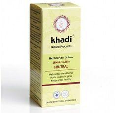 Khadi Natural Herbal Ayurvedic Natural Henna Senna Cassia / Neutral Hair Conditioning Powder Latest International Packaging g)